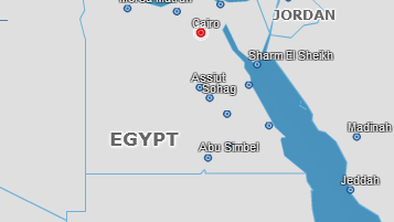 EGYPTAIR - Route Map